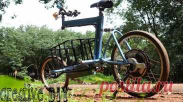 Собираем необычный грузовой электровелосипед Приветствую всех любителей помастерить, предлагаю к рассмотрению инструкцию по изготовлению электрического грузового велосипеда. Грузовой отсек у такого велосипеда расположен на уровне ног, благодаря чему центр тяжести получается низко и самоделка наиболее устойчива. Конечно, конструкция самоделки