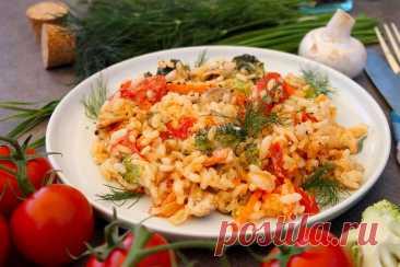 Рис в сметане с овощами рецепт с фото пошагово и видео - 1000.menu