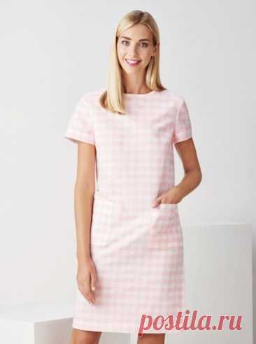 Выкройка женского платья с карманами Размеры 36-48 евро