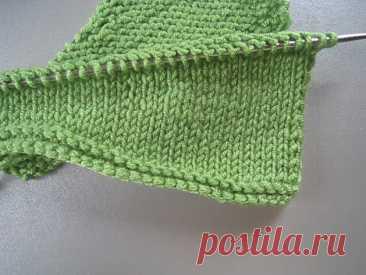 Техника вязания - укороченные ряды спицами без дырок | Вераша - о вязании в деталях | Яндекс Дзен