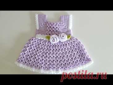 Вязание крючком #17 Платье на лето для малышки