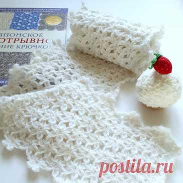 Как связать шарфик крючком из цветочков | Minute Crochet | Яндекс Дзен