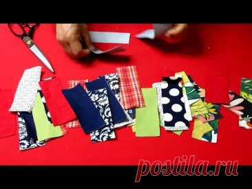 "DIY자투리 원단으로 ""명품백""을 만들어요!/나뭇잎 링 손잡이 토트백/make a ""luxury bag/wood leaf ring handle tote bag"