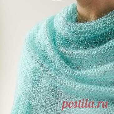 Невероятно простой, воздушный шарф (Вязание спицами) — Журнал Вдохновение Рукодельницы