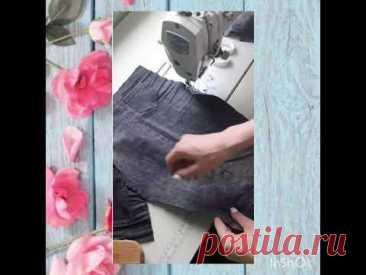 Как шить детские штаны из старых джинсов за 30 минут