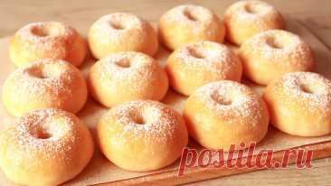 Пончики в духовке из творожного теста. Интересный вариант выпечки из творога.   Кухня от Татьяны   Яндекс Дзен