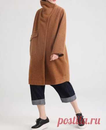 Winter Wool Coat Oversized coat Womens midi coat Dark brown   Etsy