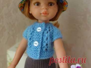 Мастер-класс смотреть онлайн: Вяжем спицами кофточку для куклы   Журнал Ярмарки Мастеров