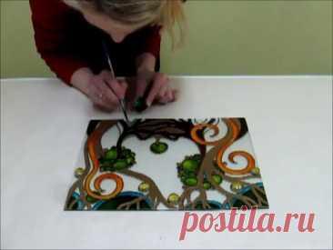 Рисование на стекле акриловыми красками - Дизайн и ремонт от FilippovDoor.ru