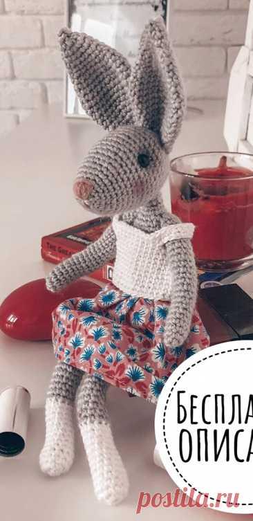 PDF Зая Мими крючком. FREE crochet pattern; Аmigurumi animal patterns. Амигуруми схемы и описания на русском. Вязаные игрушки и поделки своими руками #amimore - заяц, зайчик, кролик, зайчонок, зайка, крольчонок.