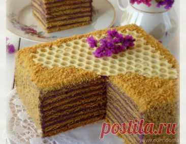 """Торт медовый """"Кадриль"""", пошаговый рецепт на 6703 ккал, фото, ингредиенты - ЗаринА"""