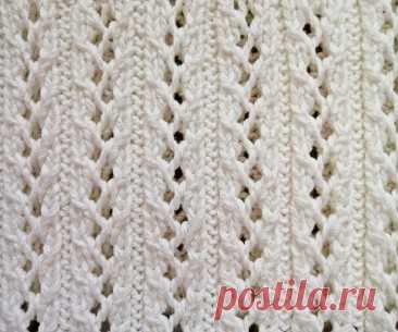 Проще простого: 10 ажурных узоров спицами с легкими схемами | Paradosik_Handmade | Яндекс Дзен