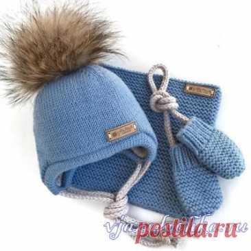 Вязаные детские шапочки и шарфики, схемы и модели – Вязалочка.ру