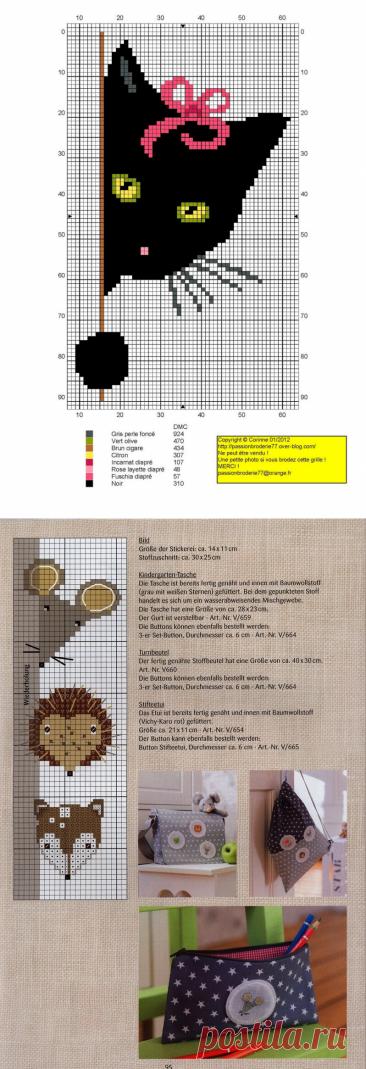 Детские схемы для вышивки и вязания | HandMadeObzor | Яндекс Дзен