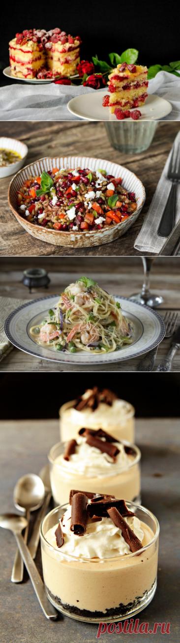 Las recetas simples de fiesta de los platos delicados para el 8 de marzo.
