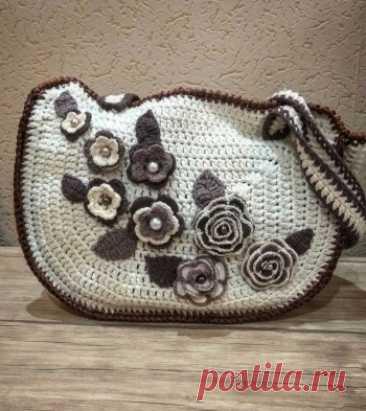 Купить сумка из атласных лент ручной работы у мастера без наценок | DIY Рукоделие - Вязание