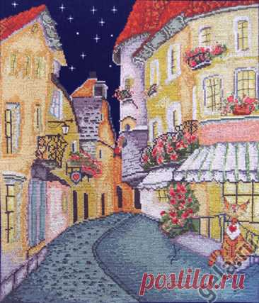 Цветочная улочка (арт. 07.004.02 Марья Искусница) набор для вышивания крестом купить в Stitch и Крестик