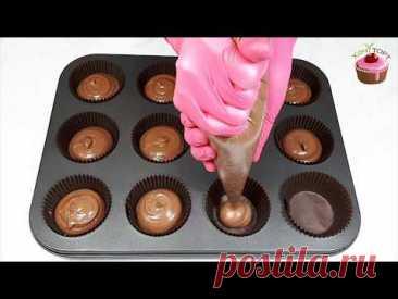 Шоколадные капкейки с карамелью и кремовыми шапочками. Рецепт шоколадно-кофейных кексов с крем чизом