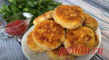 Картофельные Котлеты с Ветчиной и Сыром Как приготовить картофельные котлеты с ветчиной и сыром. Котлетки получаются с хрустящей корочкой, очень вкусные и сытные.