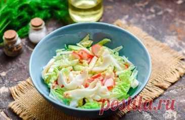 Салат с пекинской капустой и крабовыми палочками – 10 рецептов с фото