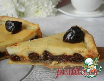 Пирог с черносливом в сметанной заливке – кулинарный рецепт