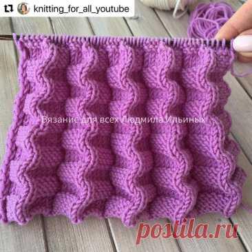 Рельефный узор Гофрэ отлично подойдет для вязания юбок, сарафанов и платьев (Вязание спицами)