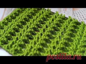 """Креативный узор спицами """"Спинки крокодильчиков"""" 🐊 knitting pattern. - YouTube"""