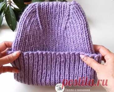 Зимняя шапка с высокой макушкой — выбор пряжи, расчёт количества петель, динамика убавлений | Тепло о вязании | Пульс Mail.ru
