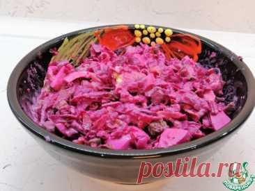Свекольный салат с жареными огурцами Кулинарный рецепт