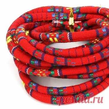 Новое поступление 5 мм 3 м/лот многоцветный богемный тканевый Шнур Веревка DIY ожерелья и браслеты для изготовления ювелирных изделий | Украшения и аксессуары | АлиЭкспресс