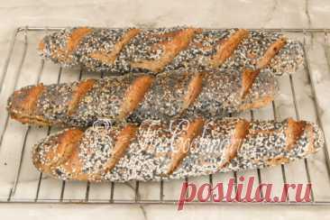 Пшенично-ржаной багет пошаговый рецепт