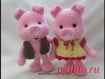 Crochet Along Dress Up Pig