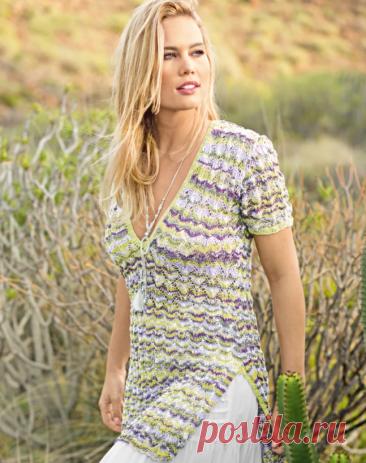 Подборка великолепных 💎 летних туник 🌸 для вязания спицами. 10 моделей + схемы и описание🧶.   Мама-универсал   Яндекс Дзен