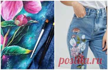 (6) Рисуем на дениме: вдохновляющие примеры + мастер-класс - Сам себе мастер - медиаплатформа МирТесен