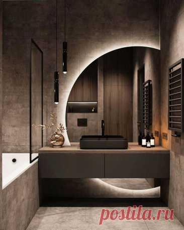 Новый тренд в дизайне - необычное расположение и форма зеркала