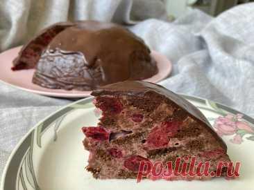 Мозаичный шоколадный торт с вишней - факап удался | Курочка и дурочка | Яндекс Дзен