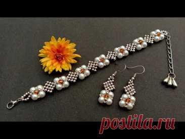 Beautiful Diamond Beaded Bracelet//Bracelet Making How To//Handmade jewelry// Useful & Easy