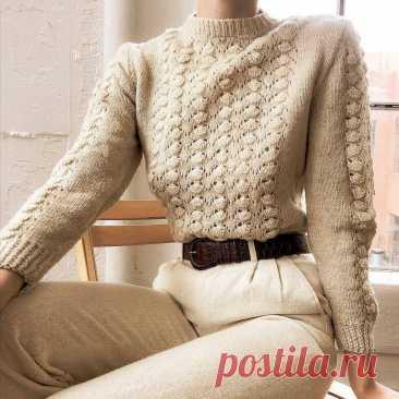 Винтажный стиль в вязании. Пуловеры и кардиганы в стиле прошлого: 6 изделий — 6 схем | Рекомендательная система Пульс Mail.ru