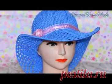 El sombrero por el gancho, la labor de punto para nachinayuschih.1\/2. El maestro la clase y el esquema. Hat crochet