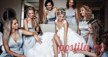 Стиль подружек невесты: один на всех или свобода выбора? В своих любимых романтических фильмах мы часто видим, что невесту окружают девушк