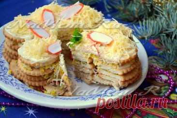 Закусочный торт из крекеров, рецепт с фото