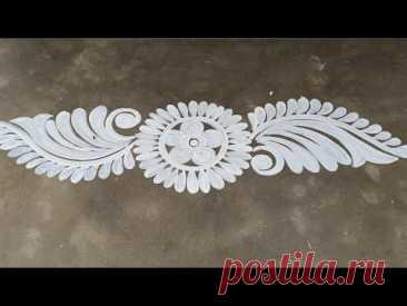 very simple door alpona design / ugadi rangoli designs 2021 / Ugadi muggulu / gudi padwa rangoli