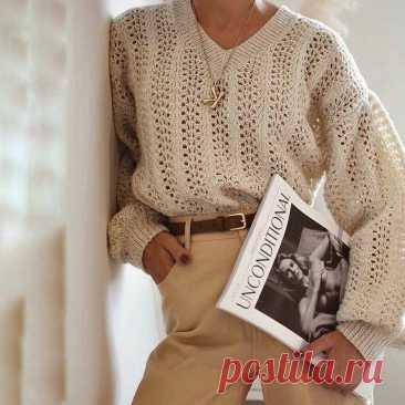 Винтажный стиль в вязании. Пуловеры и кардиганы в стиле прошлого: 6 изделий — 6 схем   Рекомендательная система Пульс Mail.ru