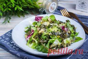 Салат из морской капусты с авокадо: рецепт пошаговый с фото | Меню недели