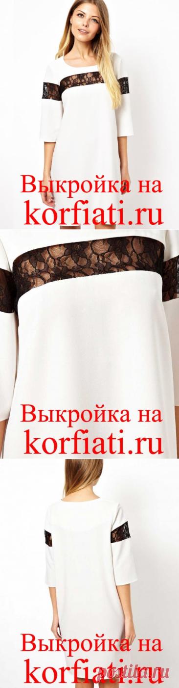 Выкройка прямого платья с рукавом от Анастасии Корфиати