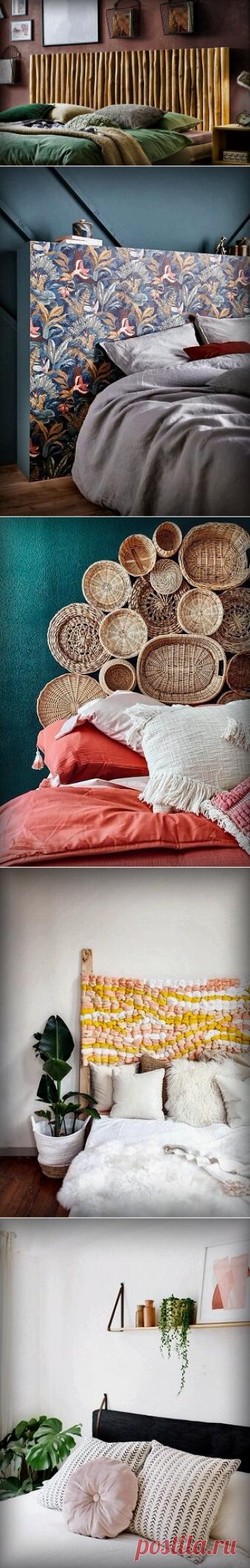 На чём можно грамотно сэкономить при обустройстве своей спальни? 5 крутых идей для изголовья | Décor and Design | Яндекс Дзен