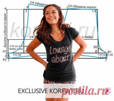 Простая выкройка женских панталон от А. Корфиати