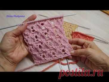 Посмотрите как вязать узор спицами для свитера, кофты ....