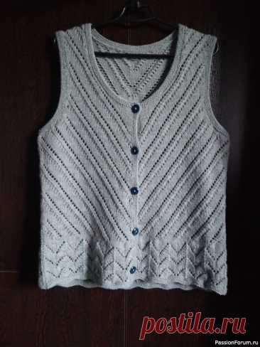 Жилет на пуговицах | Вязание для женщин спицами. Схемы вязания спицами