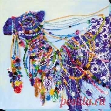 Верблюд AB-621 / Абрис Арт / Набори для вишивки бісером / Вишивання на Zinzilin.com